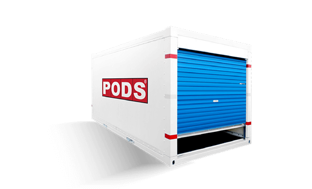 PODS storage container that can be used for activation marketing
