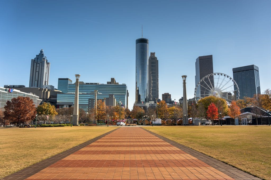 The downtown Atlanta Skyline